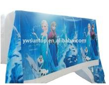 Frozen Theme plastic disposable table cloth Elsa Anna birthday Party wedding decoration supplies wholesale