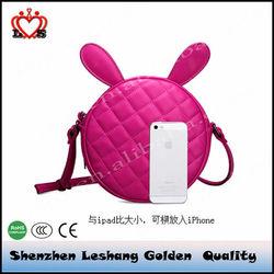 The new 2015 female bag euramerican fashion cute bunny ears ms circular shoulder hand bag