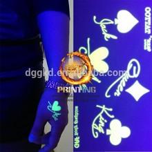 Non-toxic glow in dark tattoo sticker for customer design