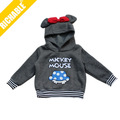 mickey mouse roupas infantis para crianças de inverno com capuz
