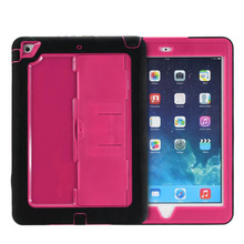 cool!silicone +pc hybrid case for ipad air ,shockproof case for ipad air