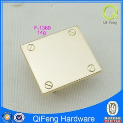 F-1369 custom metal label printing inventory blank gold square plate