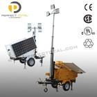 High lumen efficacy trailer mounted 400W led solar Light Tower