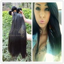 Silky straight wave natural brazilian 100% virgin human hair
