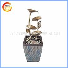 popular metal water ornament for indoor decoration