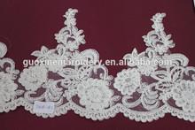 2015 Curtain lace material /textile wholesale