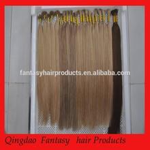 100% Human Hair Pre-bonded Nail straight Hair,Indian hair extension
