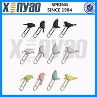 Various cute birds shape paper clip spring