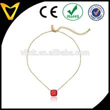 Cause A Stir Emerald-Tone Mini Pendant Necklace, 18