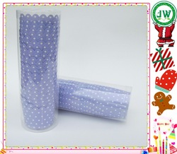 Polka dot designs MIni baking cake cups /small paper muffin cups with PVC tube packing