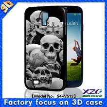 Full protect horrible 3D skull bumper case soft TPU case for samsung galaxy S3/S4/S5
