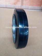European type aluminum core elastic rubber caster wheel
