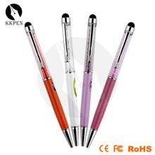 Jiangxin Mini 10 color cartoon pvc mini touch pen for women