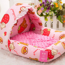 Bed & Accessory Type and Pet Beds & Accessories Type cat dog fabric bed