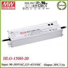 Meanwell led flood light driver smps transformer HLG-150H-20