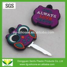Soft pvc key holder,house key cap with high quality