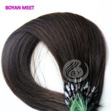 Factory price 6a grade aliexpress virgin hair 18-24 inch Dark Brown color fish line hair extension