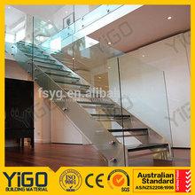Modern Glass Stair, Stainless steel stair