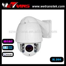WETRANS Waterproof 1920*1080P Mini Speed Dome Camera 10X Zoom Camera PTZ Camera