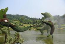 artificial garden animal in china Artificial boxwood animal boxwood topiary green animal fish