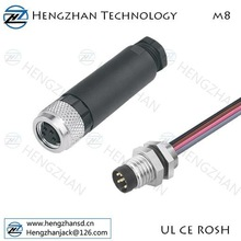 M8 connector with male and female and IP67