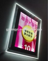 Super slim indoor led display crystal light box frame ,super slim led light box