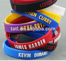 N and BA Basketball Fashion Men Silicone n and ba bracelet wristband