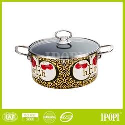 Paula Deen Signature Enamel Porcelain Nonstick Cookware, Leopard Print