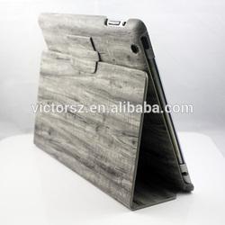 2014 New Arrival Retro Wood stripe design Flip Stand Case Cover For iPad Mini,ipad Air,ipad 2,3,4 ,5 Case