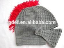 Crochet knight helmet gray custom baby beanie cap boy hat children hat