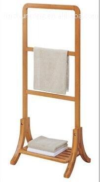 Badkamer houten bamboe badhanddoek rek opslag houders en rekken product id 60114687030 dutch - Hout voor de badkamer ...
