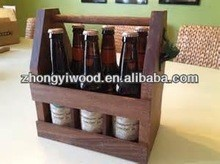 hot selling factory price FSC&SA8000 lovely handmade solid pine wooden wine carrier for sale