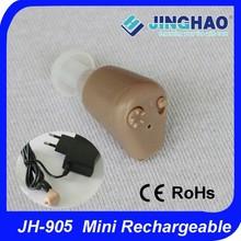 Rechargeable mini audiophone hearing aid ear tips
