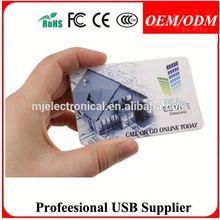 Standard credit card size EURO dollor card usb flash stick , Free sample