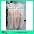 Las mujeres de encargo de encaje de moda blusa de gasa blusas/blusas de mujer de verano