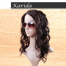 Primeira escolha produto de cabelo humano, Beleza não transformados peruca feminina preta