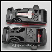 side release buckle with fire starter flint/fire starter flint for hiking