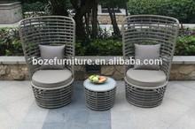 Wicker rattan sofa furniture patio garden outdoor 3 pieces all in one box