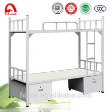 honest supplier steel double bed designs with desk and locker school furniture