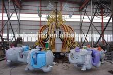 Black Lion Fun Children Ride Manufacturers! Amusement Park Ride Flying Elephant