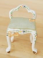 1:24 Dollhouse Miniatures Bedroom Furniture Wood Handmade Stool Chair JB0112