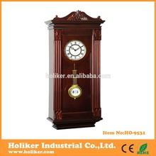 antique pendulum wood wall clock