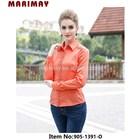 Fashion long sleeve decorated lace blouse beautiful office elegant blouses for women uniform