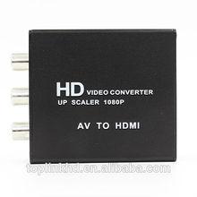 TOP-AV01 2014 hot sale rca to av to hdmi converter box