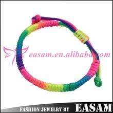Easam China Manufacturer Fashion elastic braided bracelet