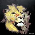 قماش اللوحات الملونة الصورة الحيوانية الأسد