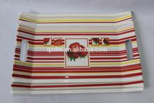 Strawberry Design Melamine Tray With 2 Handles