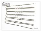 TH03 Lead Nickel Free 7.5cm Gold U shaped Hairgrip