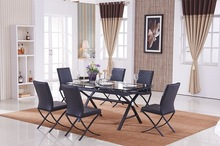 the ikea 8 seaters black glass dining table