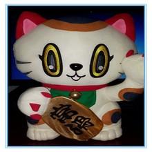 Factory custom cute plush Fortune cat/plush cat toy